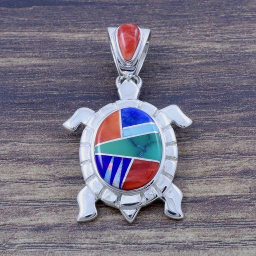 Multi-Colored Turtle Pendant