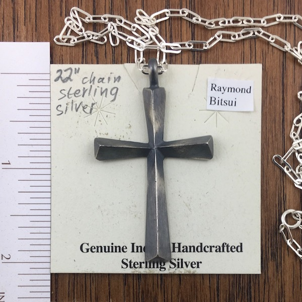 Sterling Silver Primitive Cross Pendant