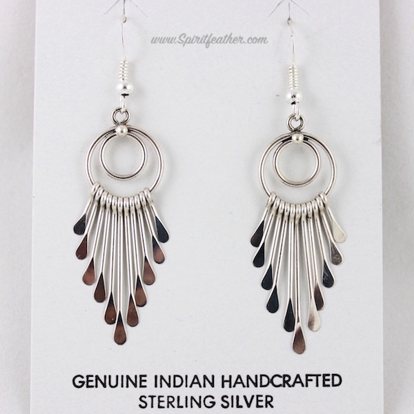 Sterling Silver tapered dangle earrings by Pauline Armstrong No Stone