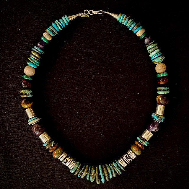 Turquoise Necklace by Rosita and Tommy Singer 21