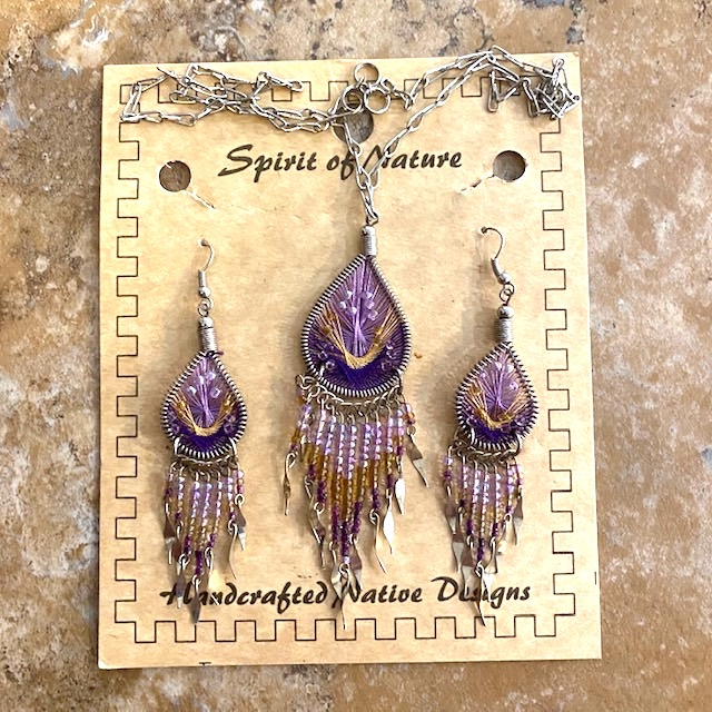 Necklace and Earrings String Art Set