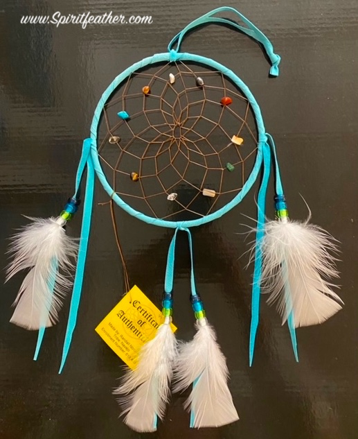 Authentic Native American Large Spirit Stone Turquoise Dream Catcher 6