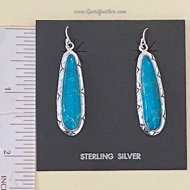 Sterling Silver and Kingman Turquoise Earrings