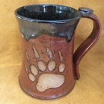 Bear Paw Coffee Mug with Thumb Rest