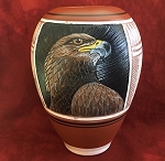 Native American Pottery with Golden Eagle