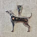 Fred Begay Starry Night Dog Pendant