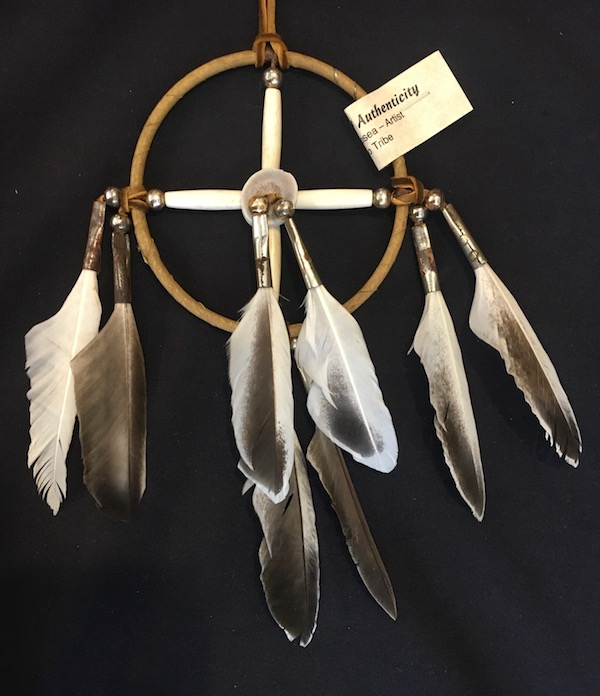 Native American Indian Medicine Wheel, 4 inch Hoop