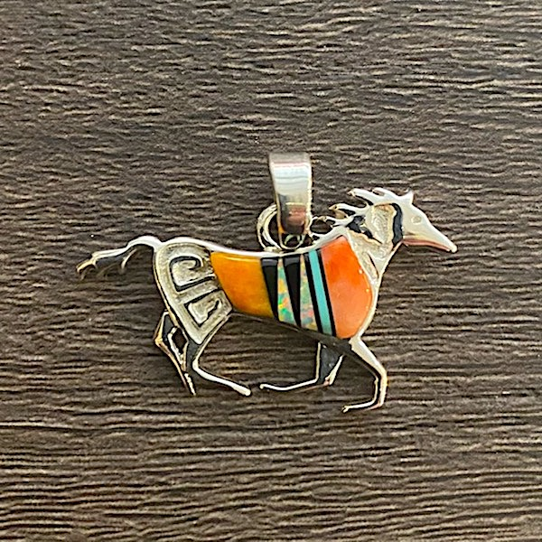 Multi-colored Mini Horse Pendant