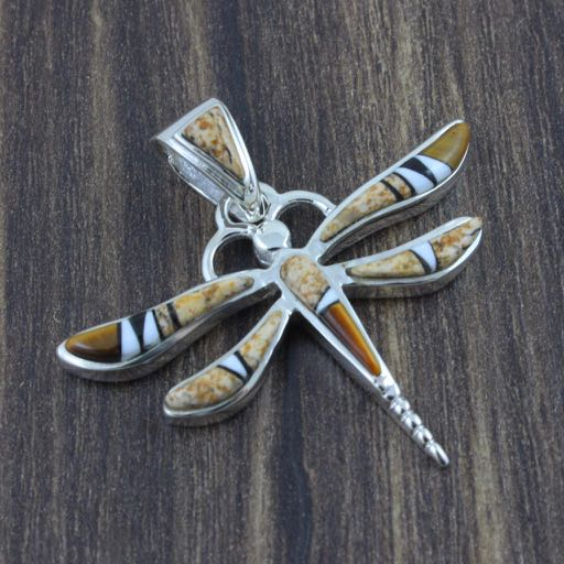 Brown Earthtones Dragonfly Pendant