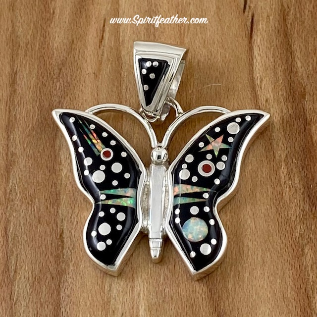 Starry Night Butterfly Pendant by Fred Begay