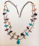 Double Strand Fetish necklace by Hector Goodluck, Navajo
