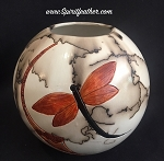 Dragonfly in horse hair pottery