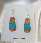 Small Boulder Turquoise Slab earrings