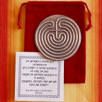 Cretan desktop labyrinth 4.5 inch wide use with your finger