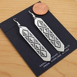 Sterling Silver Diamondback Design Earrings
