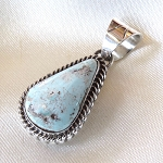 Dry Creek Turquoise and Sterling Silver Pendant