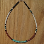 Heishi Bead Necklace, Santa Domingo Pueblo, NM 18