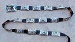 Sterling Silver Adjustable Concho Belt