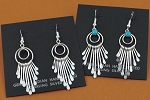 Sterling Silver tapered dangle earrings by Pauline Armstrong