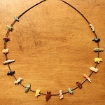Fetish necklace - longer, mixed animals Neil Thomas, Navajo