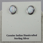 White Opal and Sterling Silver Earrings