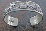 Roger John Sterling Silver Story of Christ Bracelet Medium