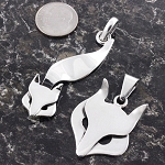 Sterling Silver Fox Pendants
