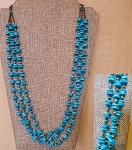 Three Strand Turquoise Necklace