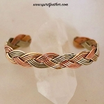 Tri Colored Braid Cuff Bracelet