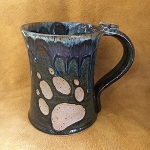 Wolf Paw Coffee Mug with Thumb Rest