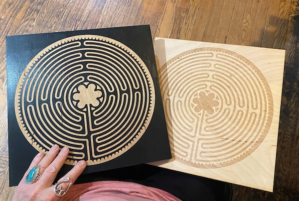 Chartres Large Laptop Wooden Labyrinth
