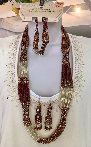 Three Piece Set, Necklace, Earrings and Bracelet