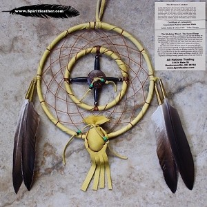 "Large Medicine Wheel and Dream Catcher 4"" and 6"" hoops"