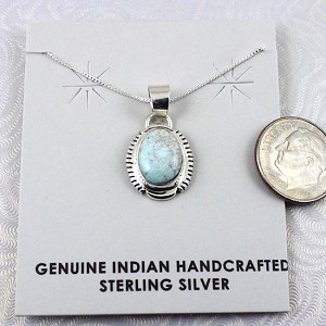 Dry Creek Turquoise and Sterling Silver Pendant with Chain