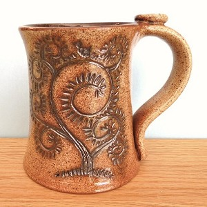 Tree of Life Mug with Thumb Rest